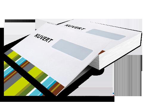 Kuverter i næsten alle oplag - super billigt og flot tryk.